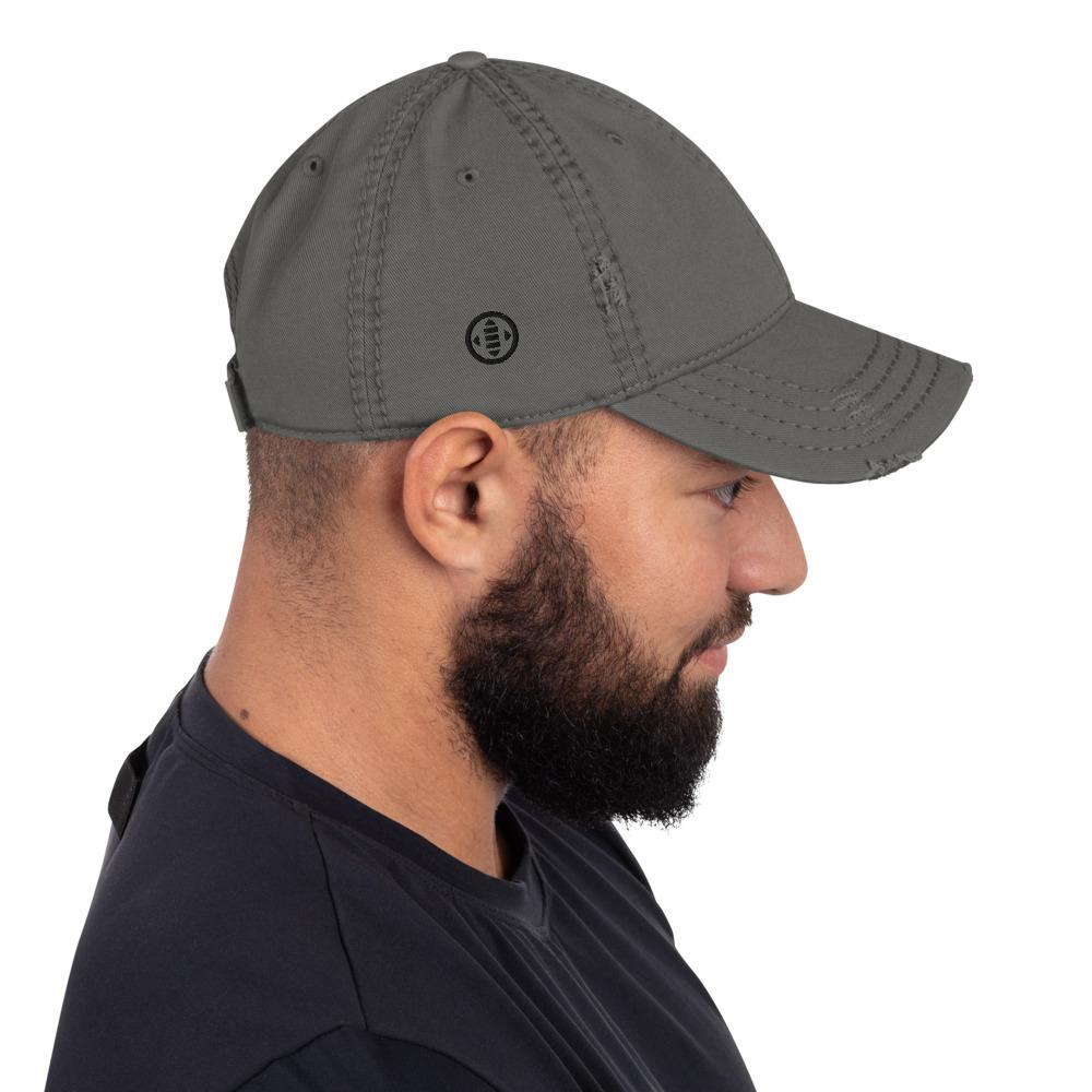 EMBATTLED IC0021 Distressed Dad Hat Embattled Clothing Charcoal Grey