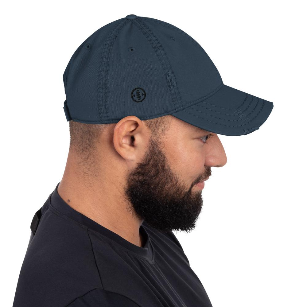 EMBATTLED IC0021 Distressed Dad Hat Embattled Clothing Navy