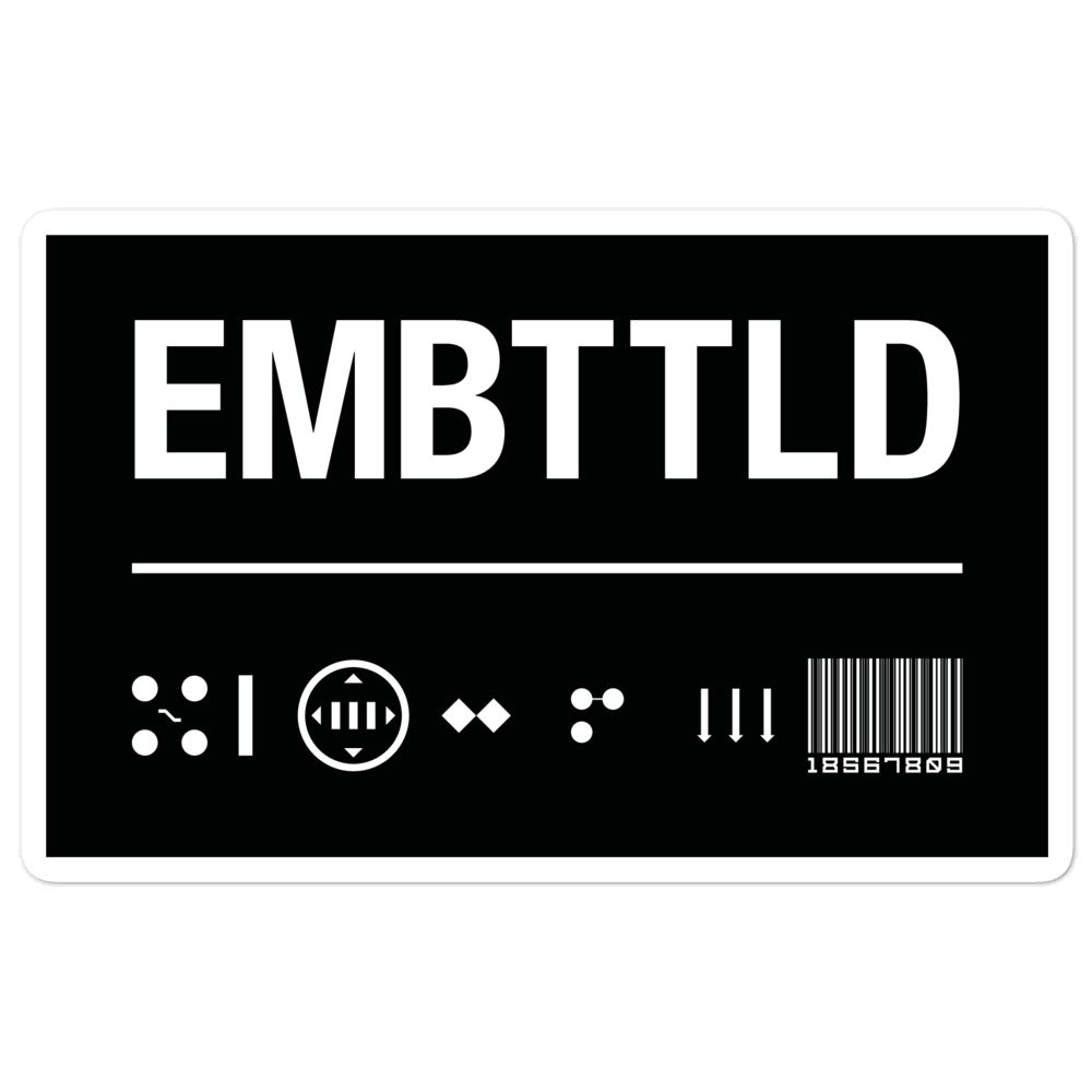 EMBATTLED ID Black Bubble-free stickers Embattled Clothing 5.5x5.5