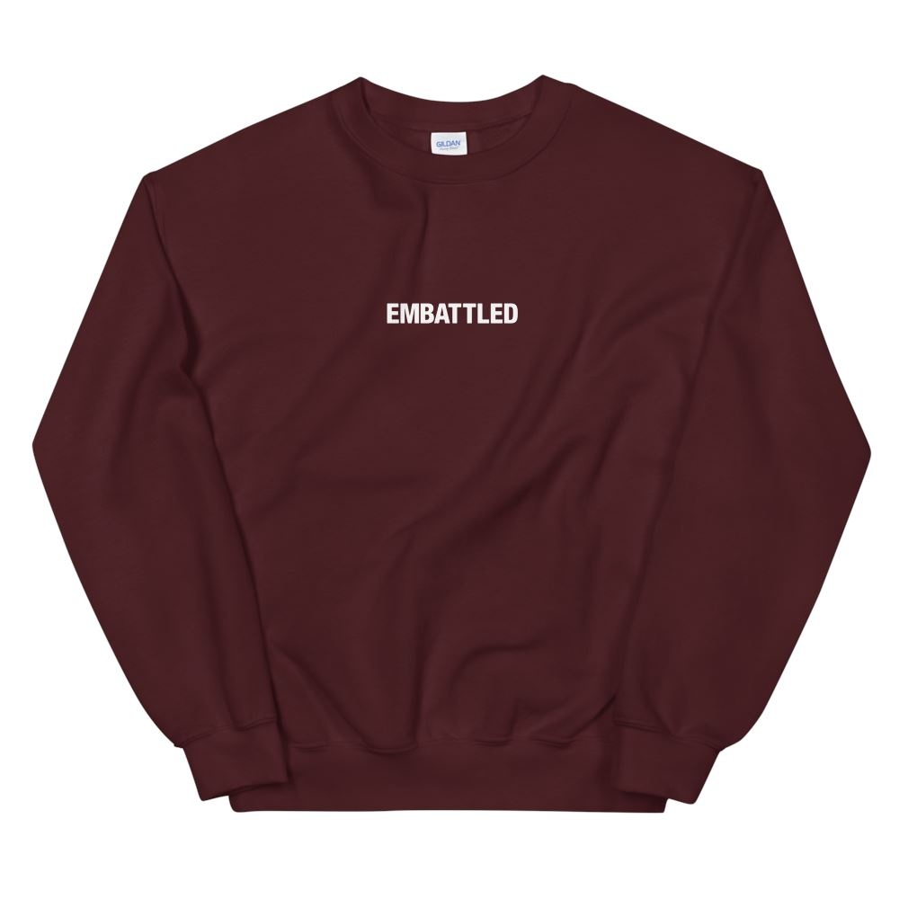 EMBATTLED ORIGINAL ICON Sweatshirt Embattled Clothing Maroon S