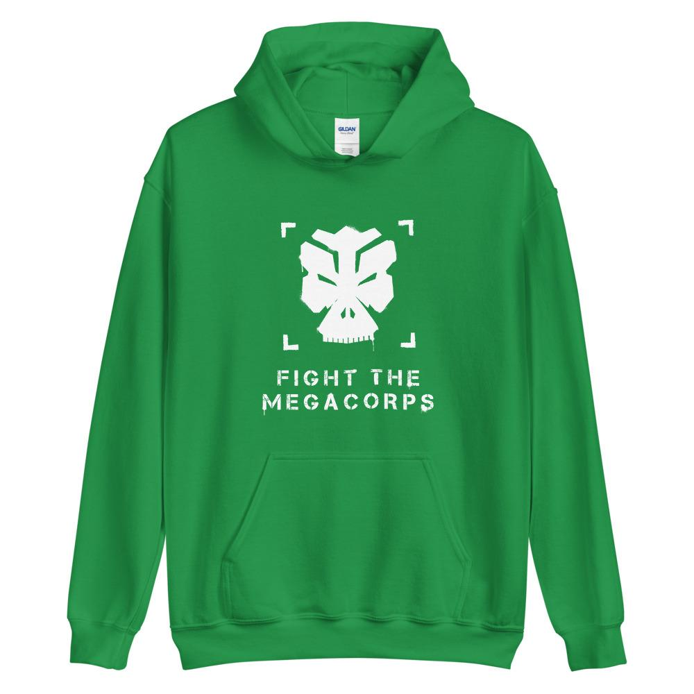 FIGHT THE MEGACORPS P1 Hoodie Embattled Clothing Irish Green S