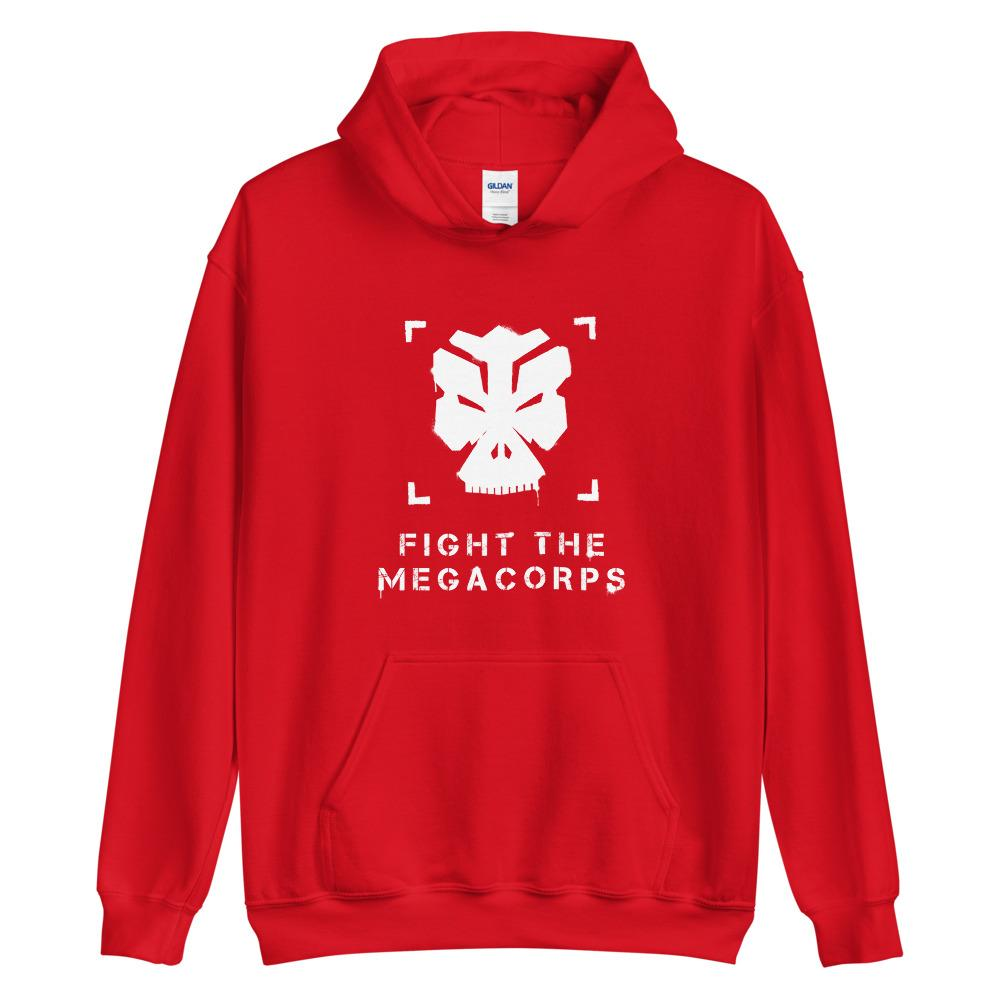 FIGHT THE MEGACORPS P1 Hoodie Embattled Clothing Red S