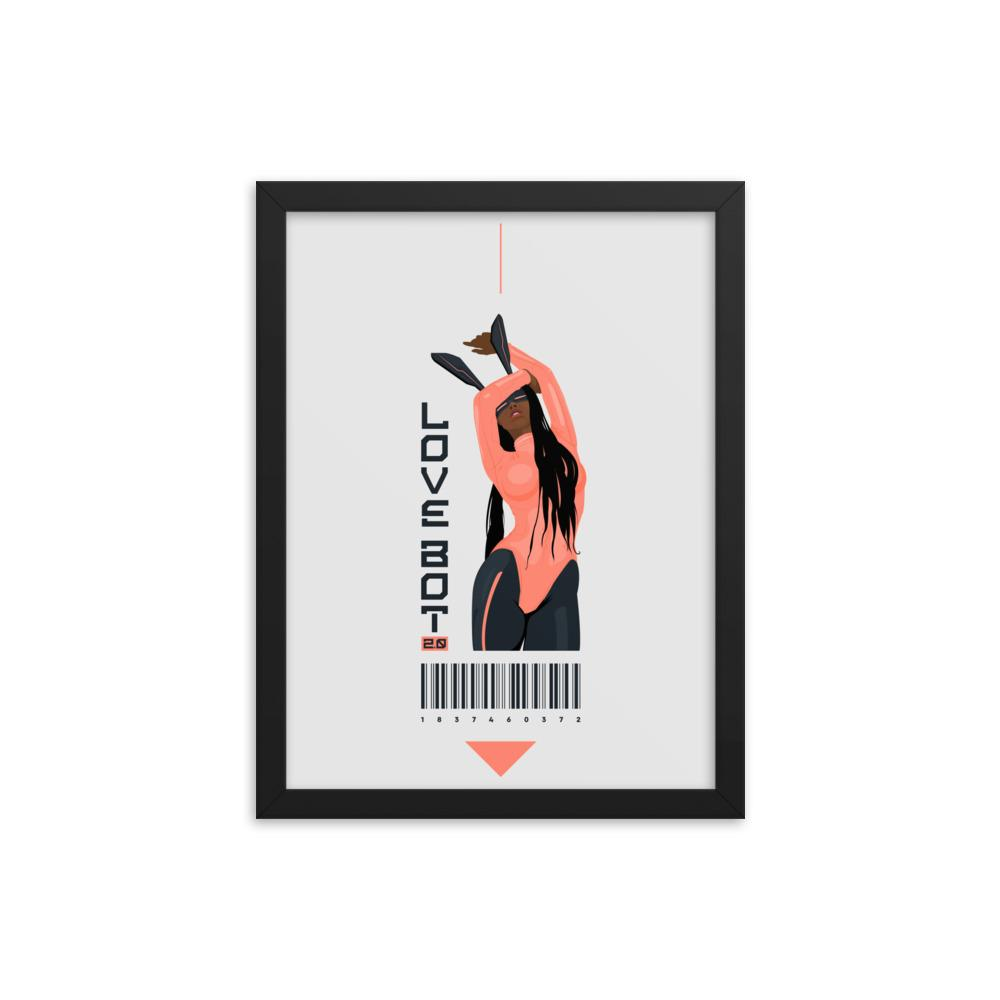 LOVE BOT 2.0 Framed poster Embattled Clothing 12×16