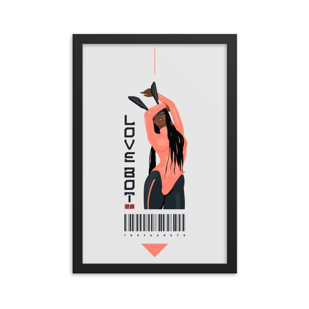 LOVE BOT 2.0 Framed poster Embattled Clothing 12×18