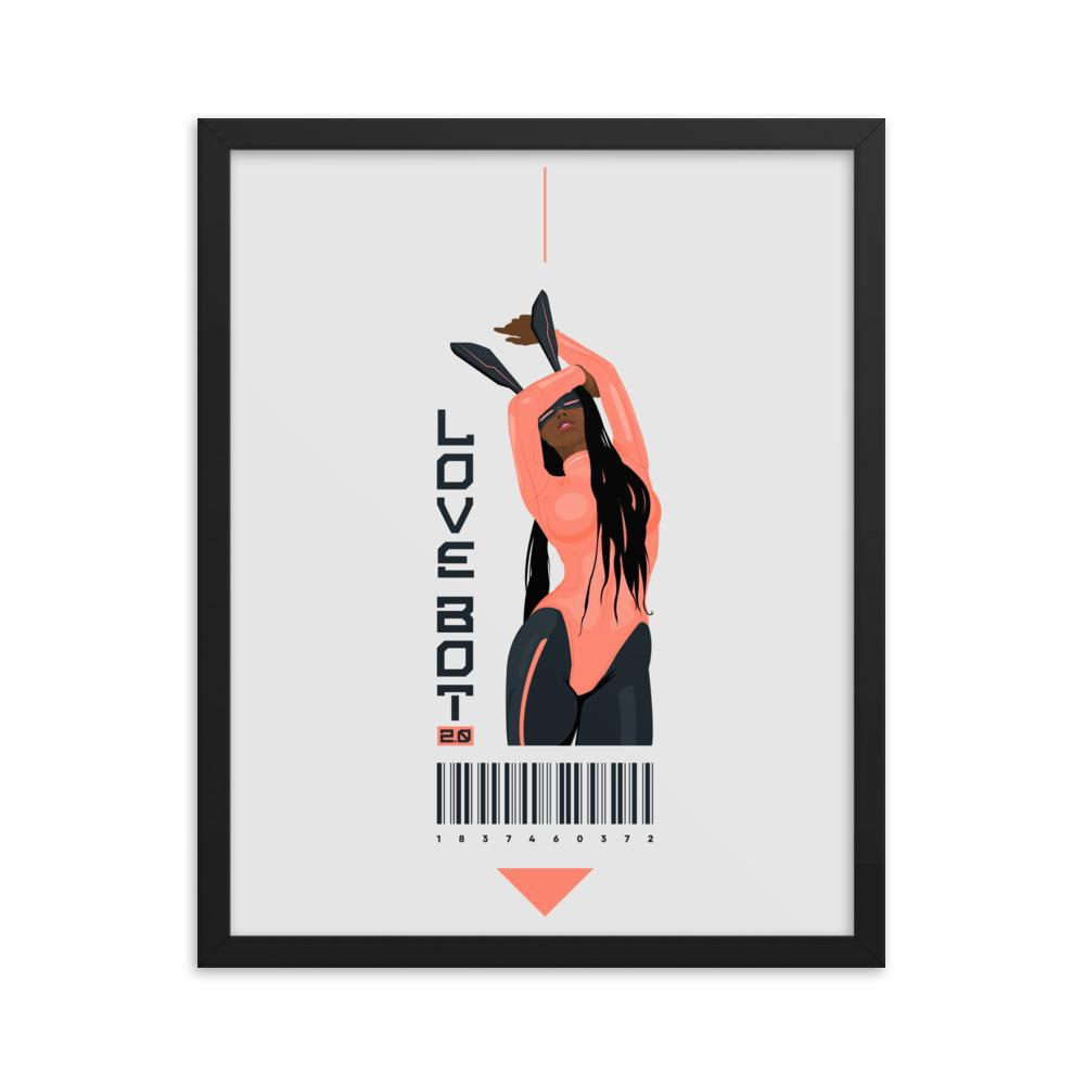 LOVE BOT 2.0 Framed poster Embattled Clothing 16×20