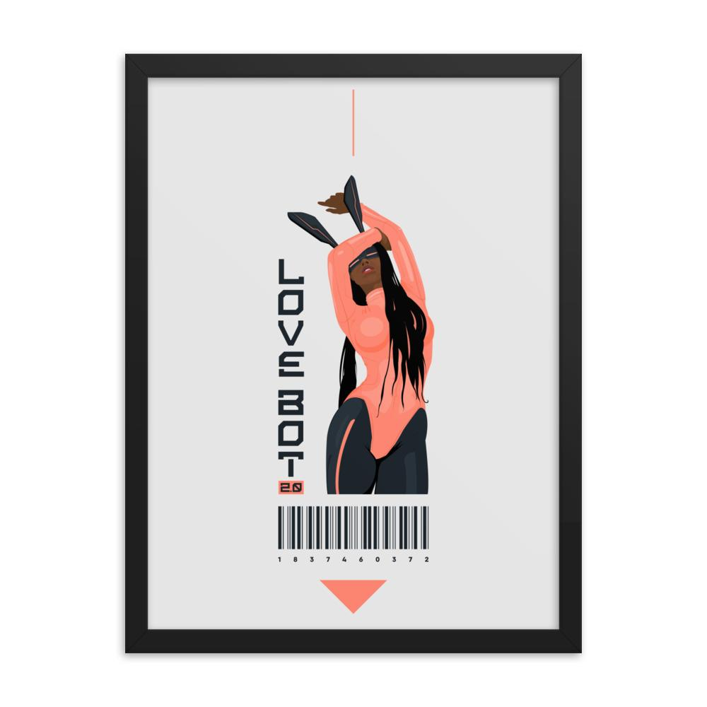 LOVE BOT 2.0 Framed poster Embattled Clothing 18×24