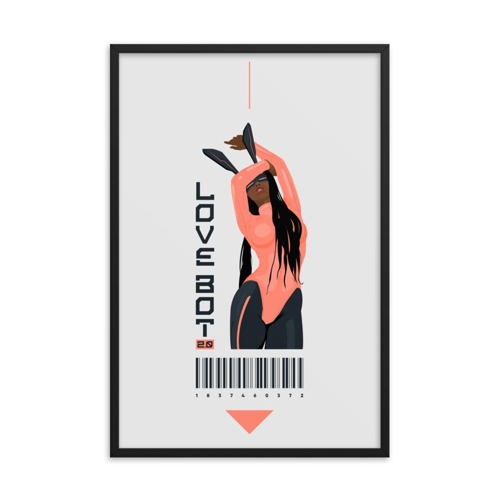 LOVE BOT 2.0 Framed poster Embattled Clothing 24×36