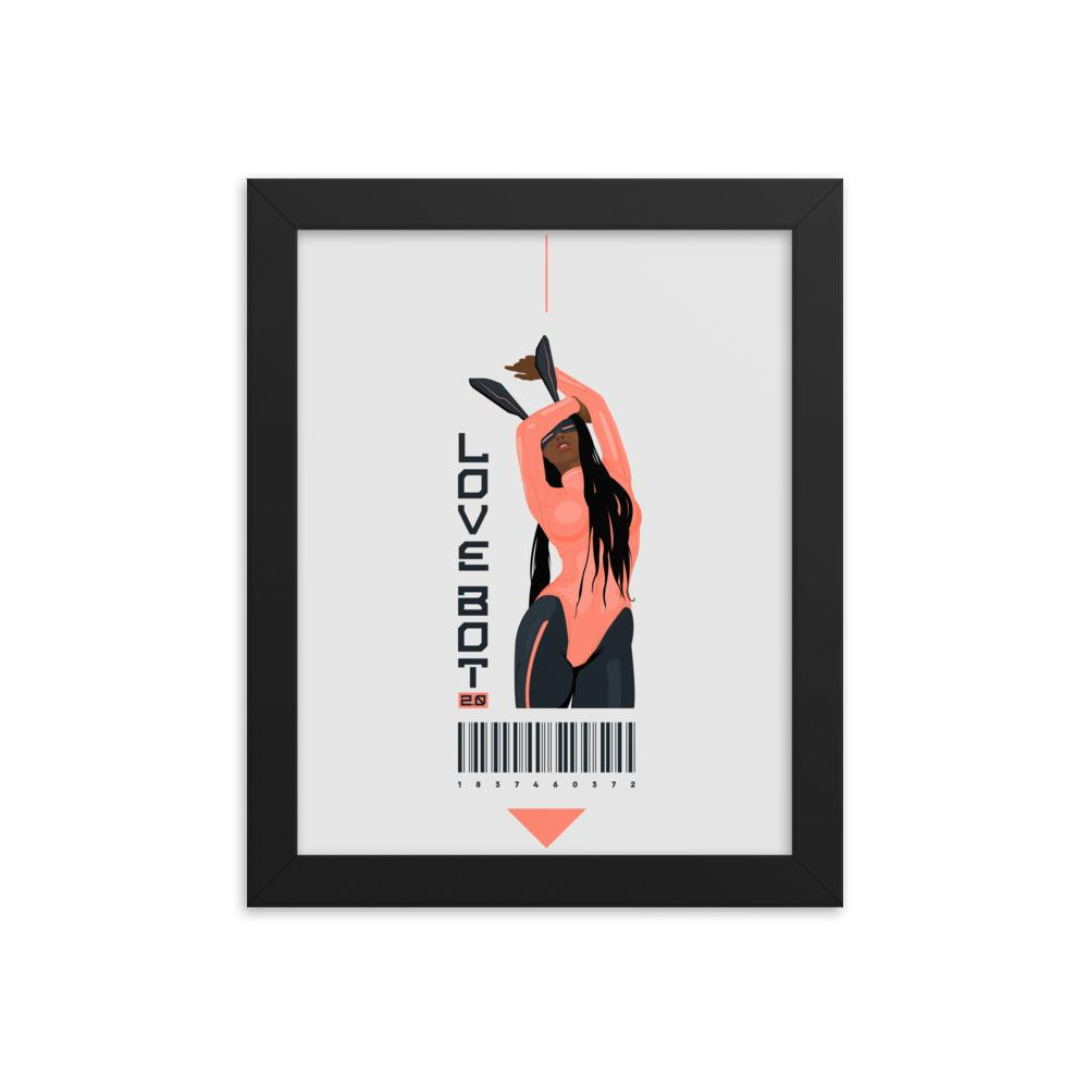 LOVE BOT 2.0 Framed poster Embattled Clothing 8×10