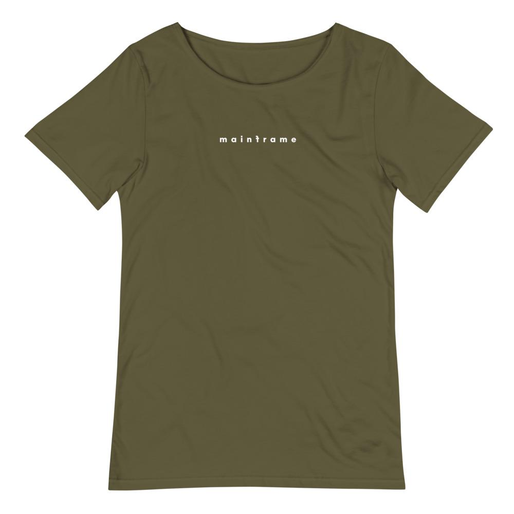 MAINFRAME 3.0 Men's Raw Neck Tee Embattled Clothing Military Green S