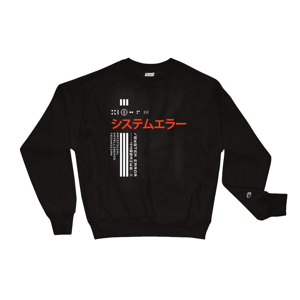 SYSTEM ERROR X Champion Sweatshirt Embattled Clothing Black S