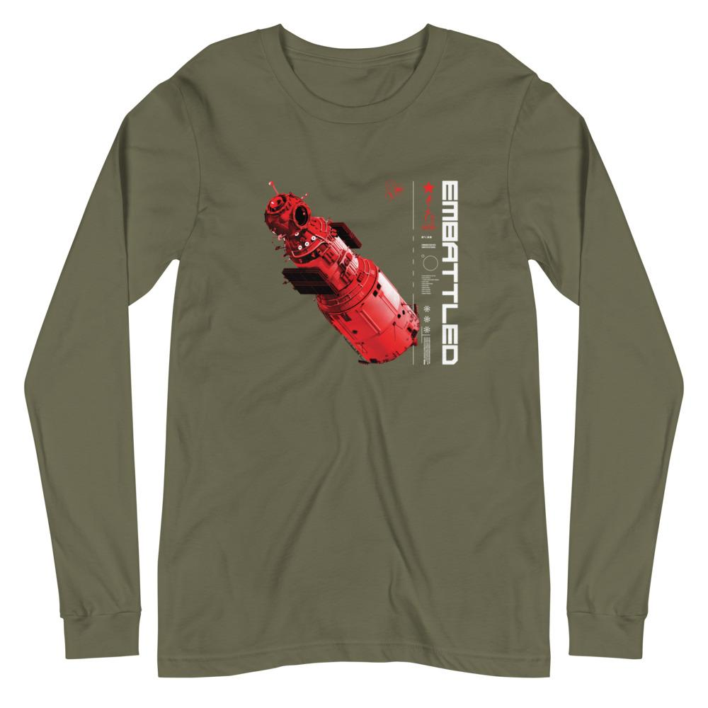 TAKE FLIGHT Long Sleeve Tee Embattled Clothing Military Green XS