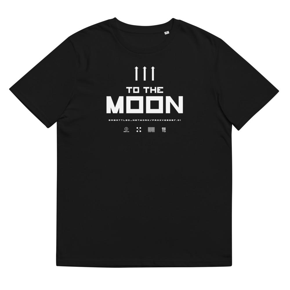 TO THE MOON 2.0 organic cotton t-shirt Embattled Clothing Black S