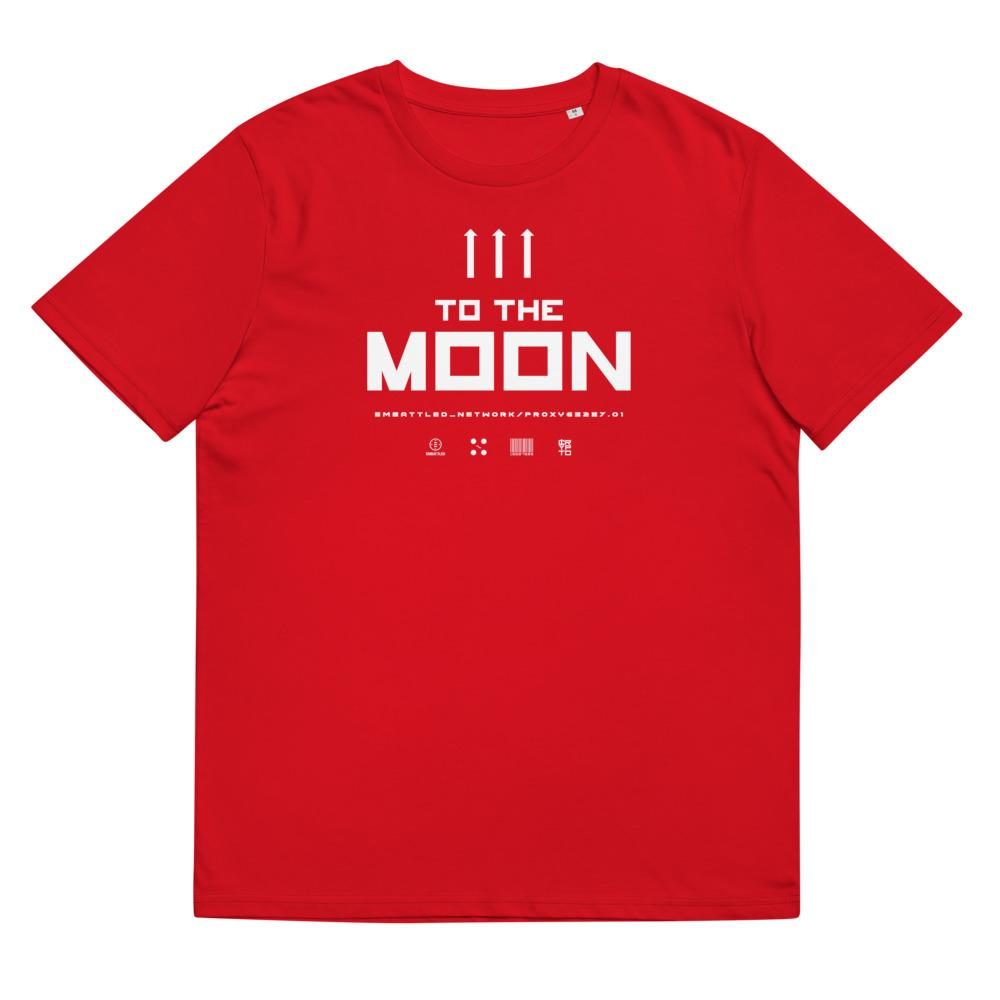 TO THE MOON 2.0 organic cotton t-shirt Embattled Clothing Red S