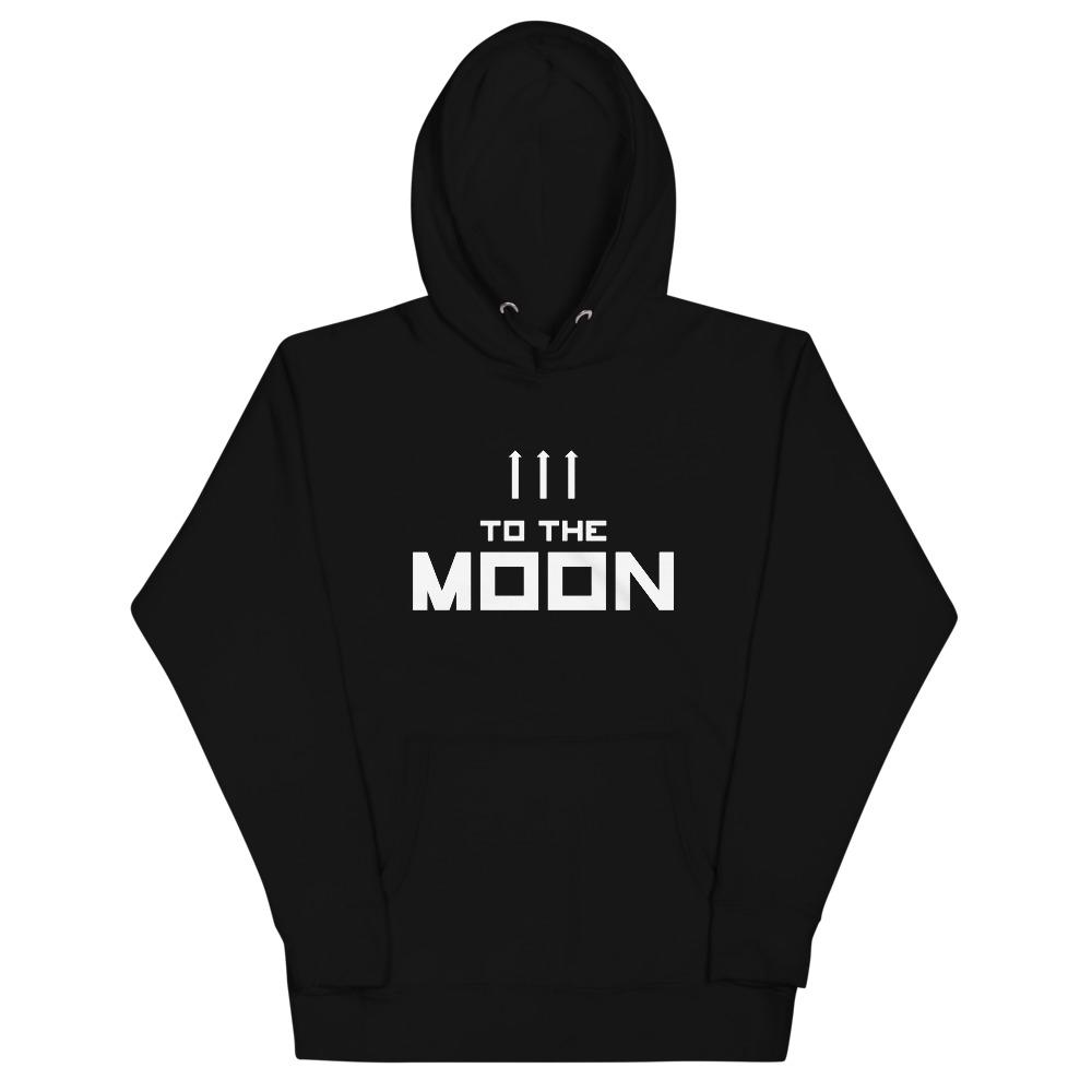 TO THE MOON Hoodie Embattled Clothing Black S