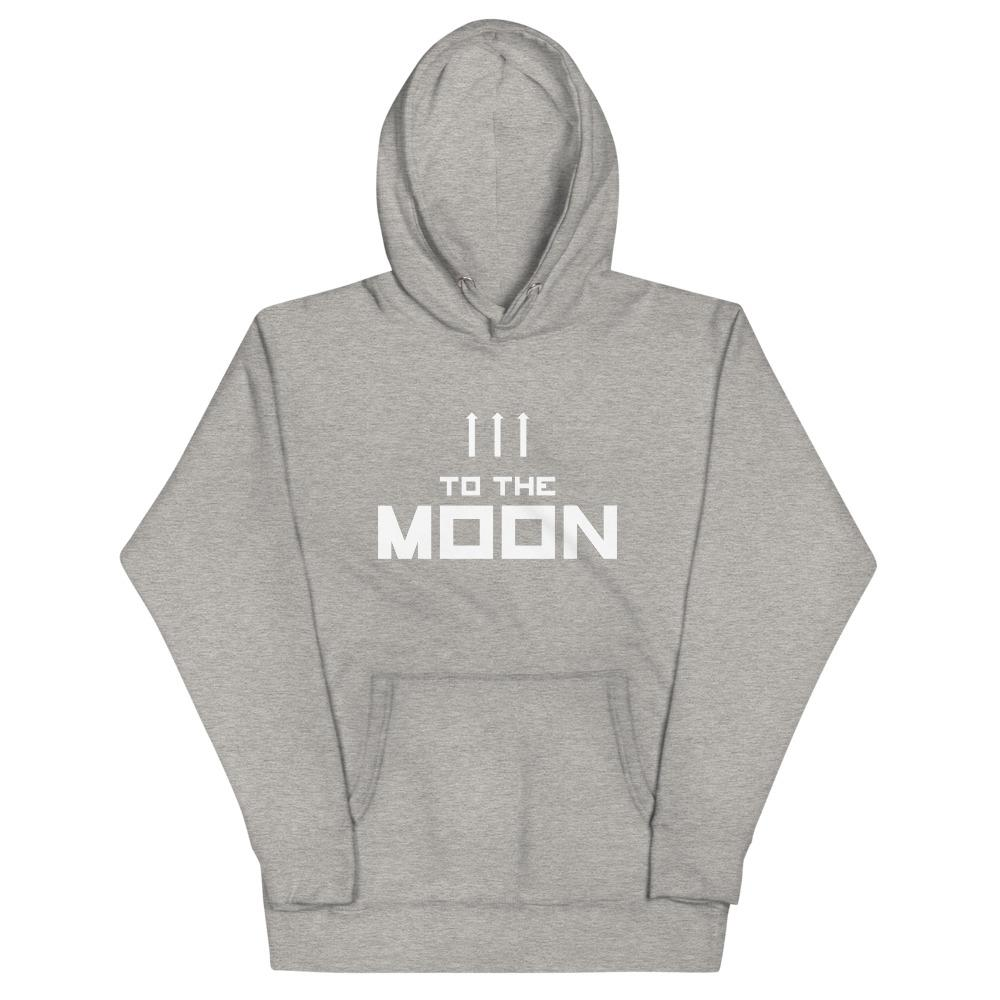 TO THE MOON Hoodie Embattled Clothing Carbon Grey S