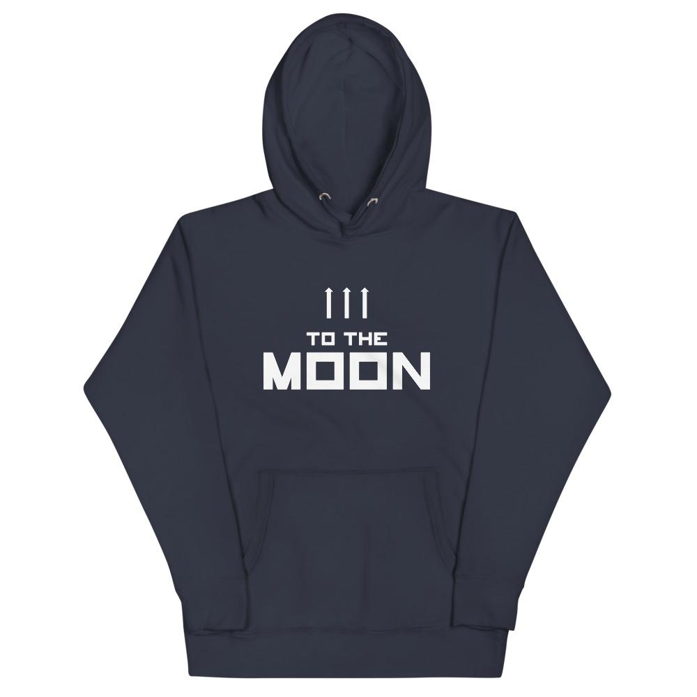 TO THE MOON Hoodie Embattled Clothing Navy Blazer S