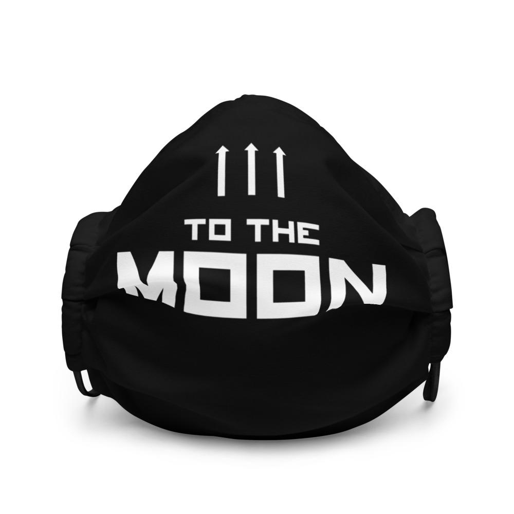 TO THE MOON Premium face mask Embattled Clothing Black