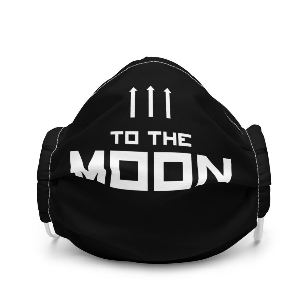 TO THE MOON Premium face mask Embattled Clothing White