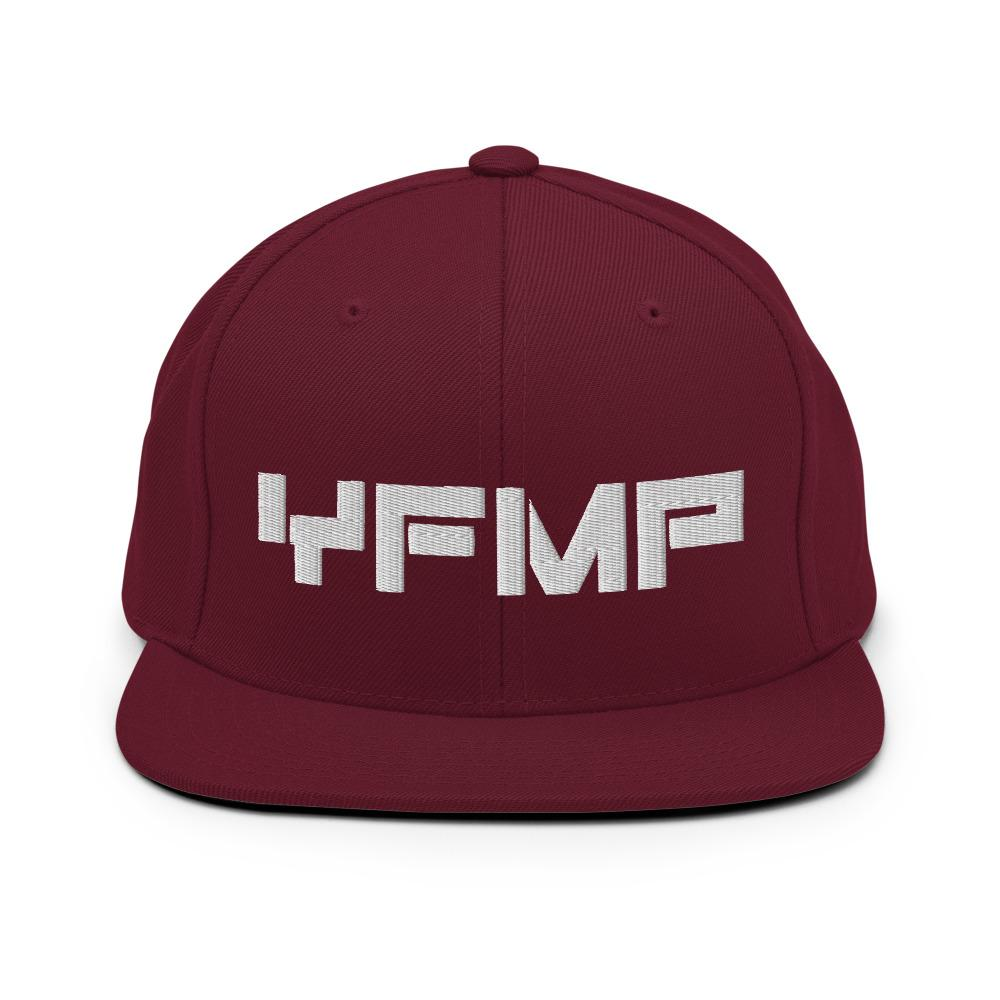YOUR FUTURE MY PAST Snapback Hat Embattled Clothing Maroon