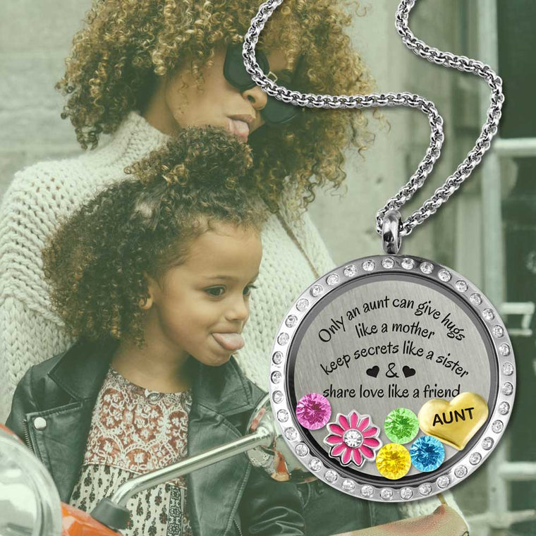 aunt and niece gift show love for an aunt with a charm locket