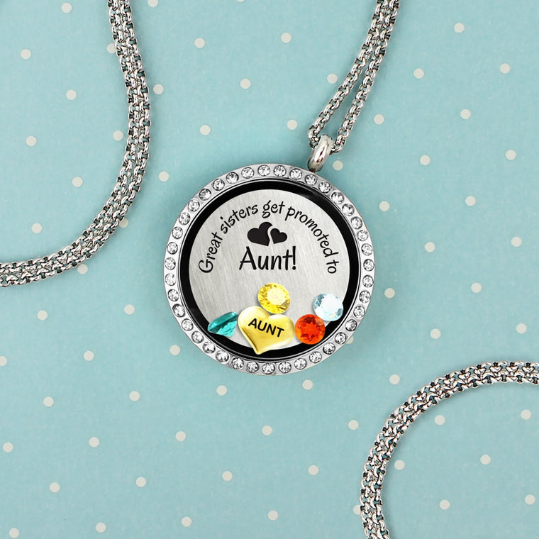 Aunt gifts sister gifts show love with a charm locket floating charm necklace