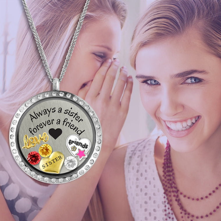 sisters and best friends charm necklace sister gift best friend gift sisters by another mother