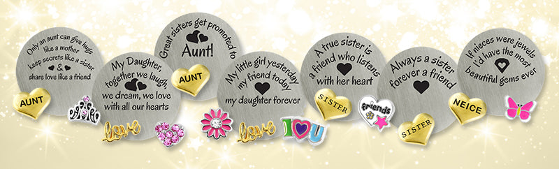 Sisters Aunts Niece and Daughter Gifts - express your love with a floating locket message