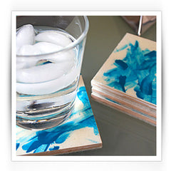 Finger Print Coasters DIY Childrens Mothers Day Projects