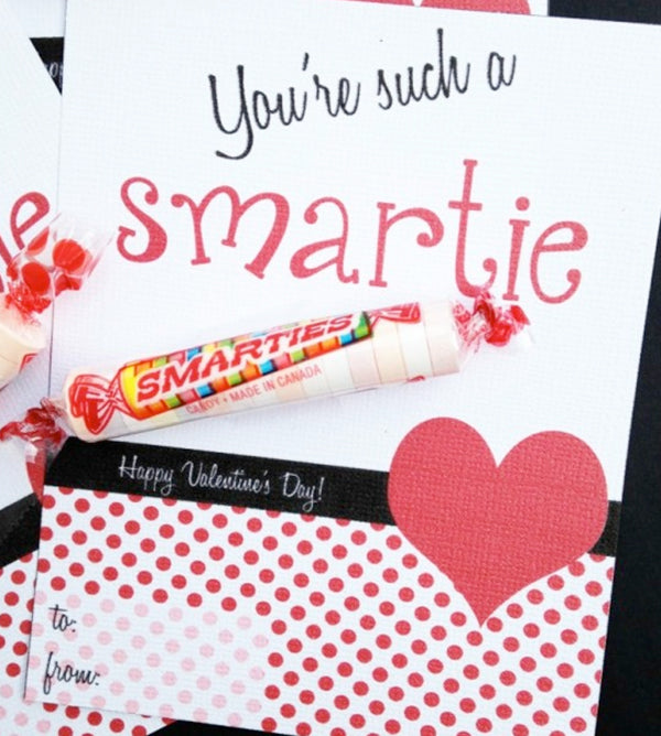 Smartie Candy Teacher and Classroom Valentines Day Gifts