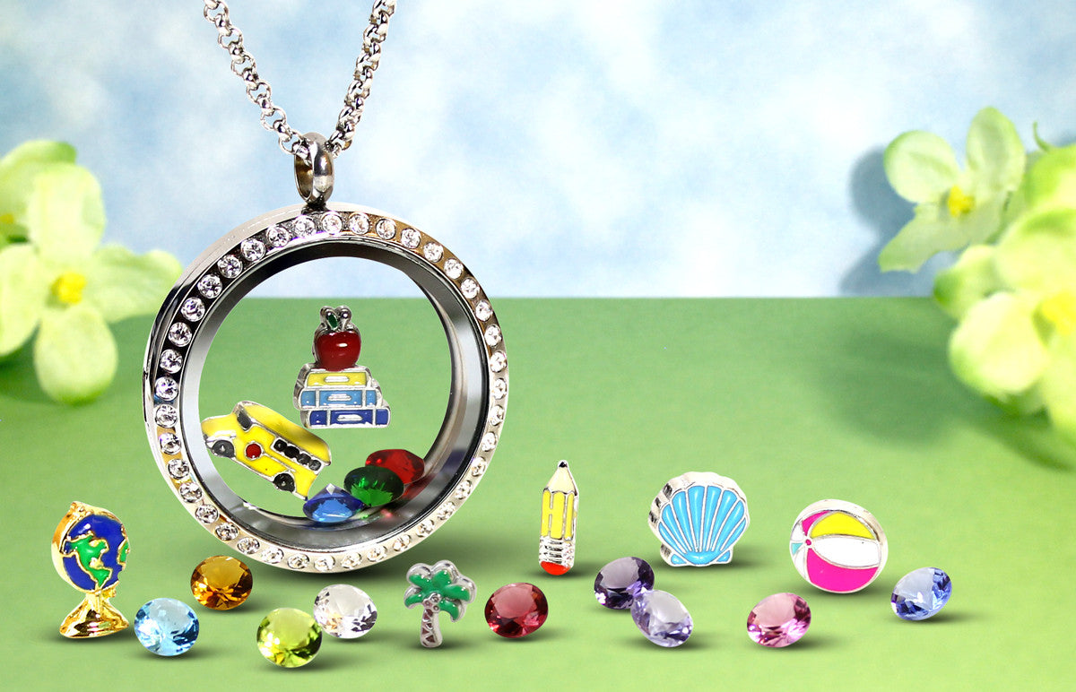 lockets set necklace pendant charm amazon dp jewelry floating infinite com with love charmed