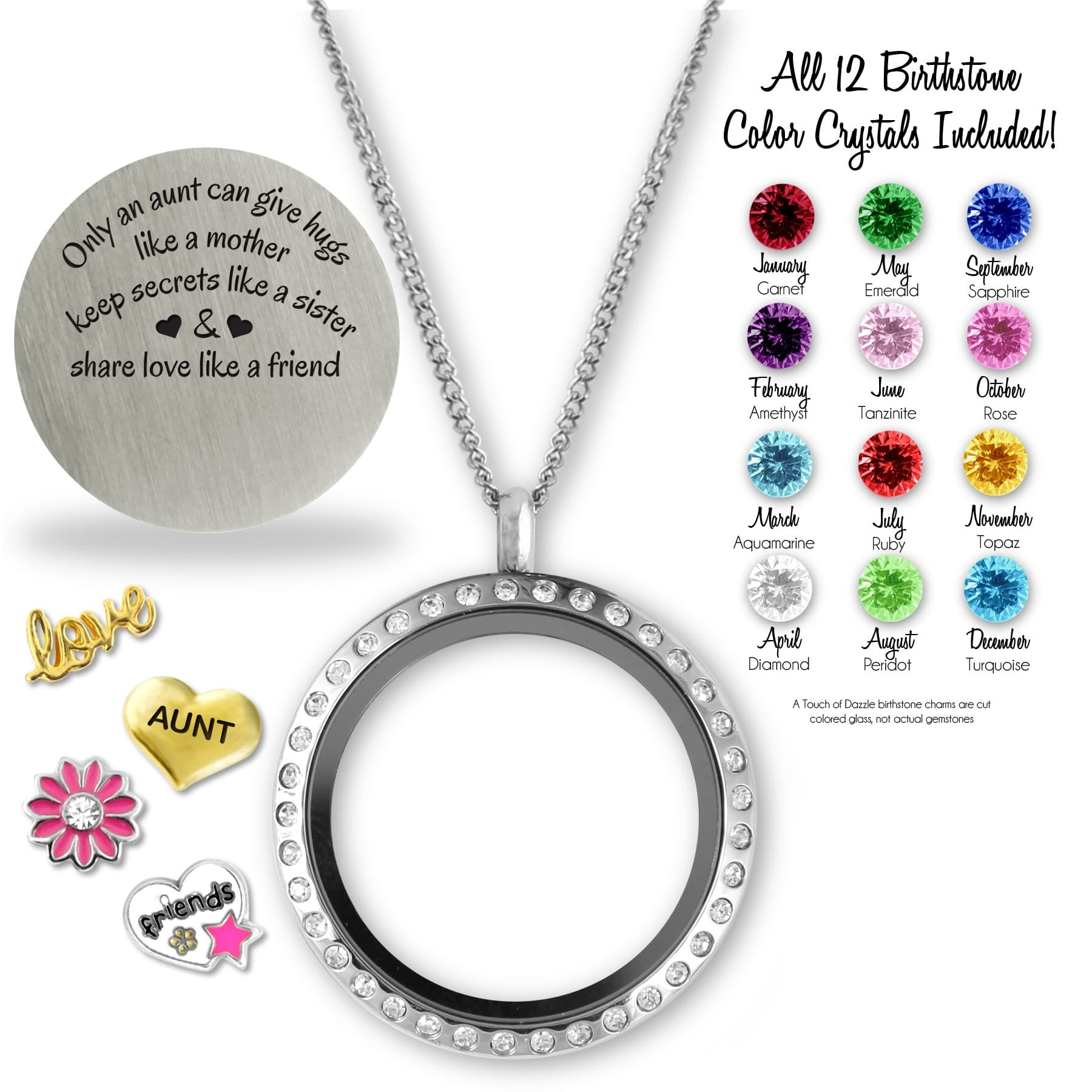 only dazzle products necklace out laid an a can min locket touch floating s kids girls give jewelry of charm lockets hugs aunt