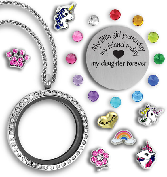 My Daughter Locket Girls Necklace - Kids Jewelry A Touch of Dazzle Girls Jewelry