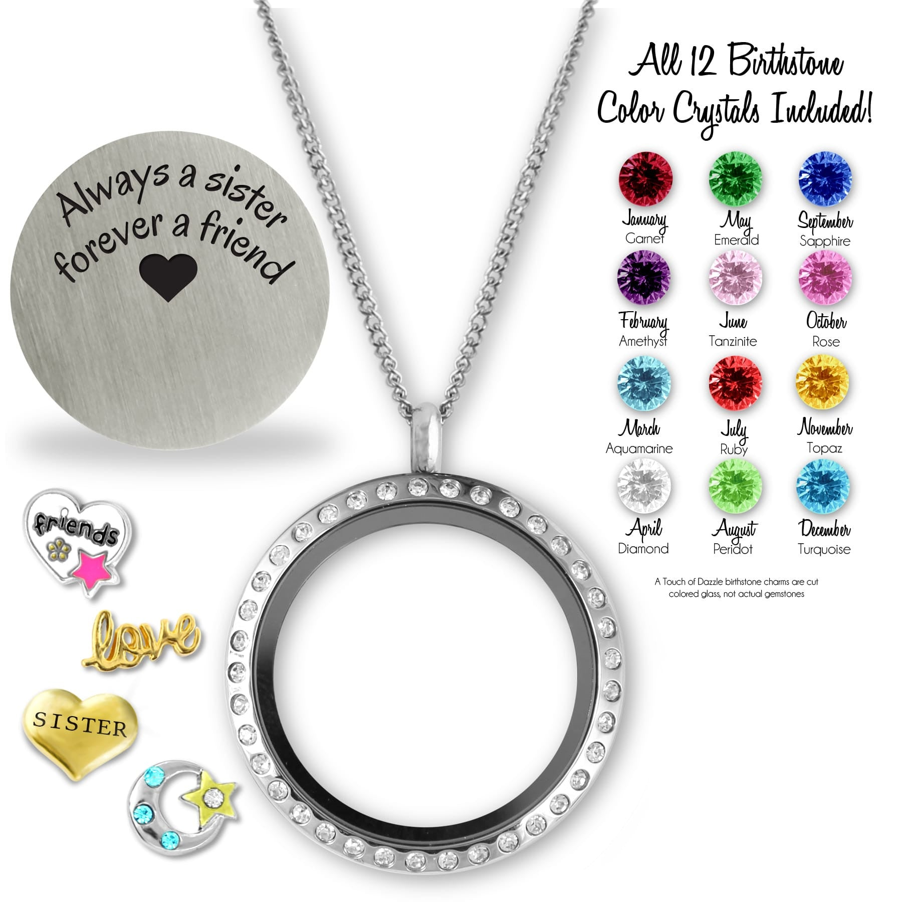 lockets friend floating charms mom pin friends grandma and locket
