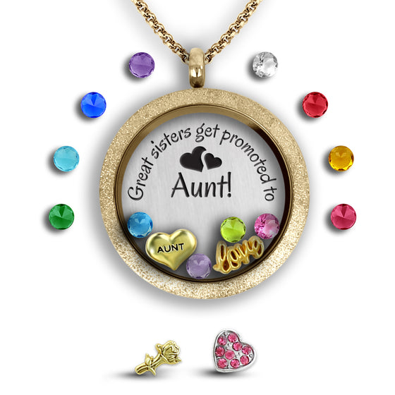 Sisters to Aunt Girls Necklace - Kids Jewelry A Touch of Dazzle Girls Jewelry