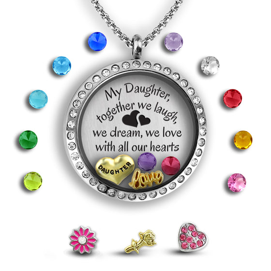 My Daughter My Heart Girls Necklace - Kids Jewelry A Touch of Dazzle Girls Jewelry