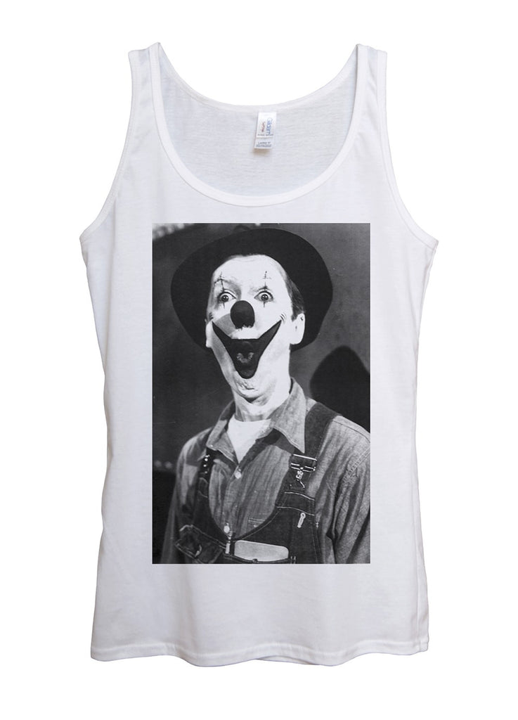 Creepy Clown Tank Top - Idea Is Good