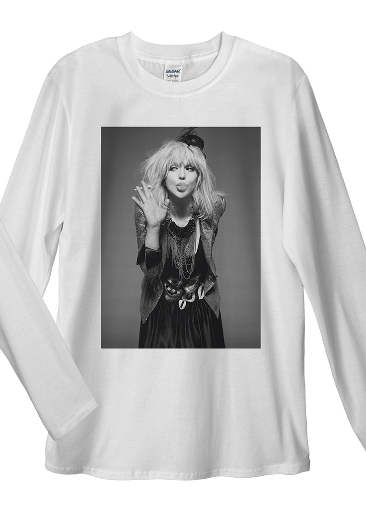 Courtney Love Long Sleeve T-Shirt - Idea Is Good