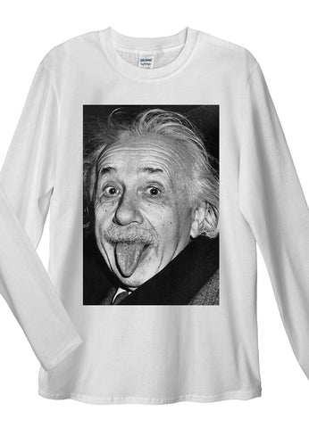 Albert Einstein Long Sleeve T-Shirt - Idea Is Good