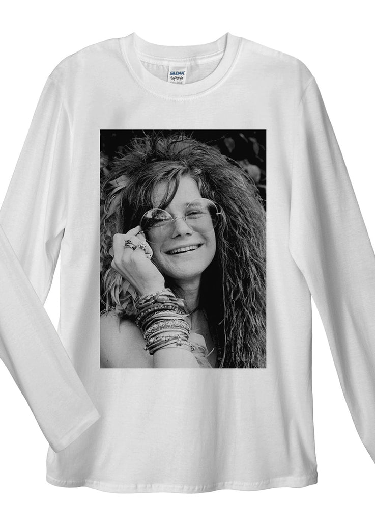 Janis Joplin Long Sleeve T-Shirt - Idea Is Good