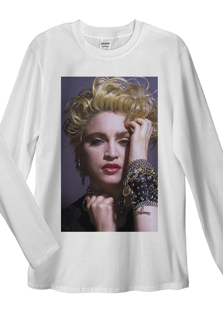 Madonna Blond Long Sleeve T-Shirt - Idea Is Good