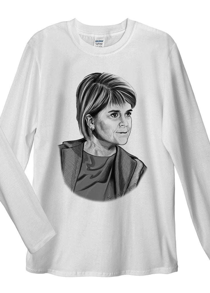 Nicola Sturgeon Long Sleeve T-Shirt - Idea Is Good