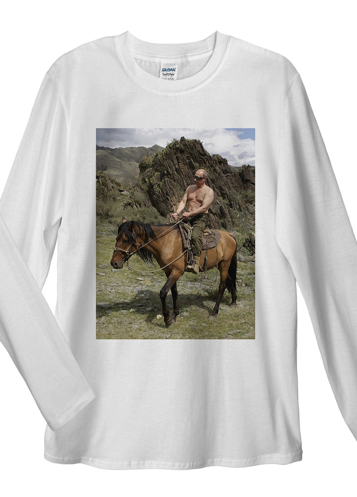 Vladimir Putin Riding Long Sleeve T-Shirt - Idea Is Good