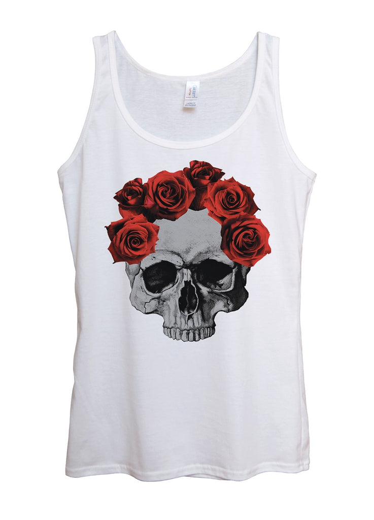 Skull Roses Tank Top - Idea Is Good
