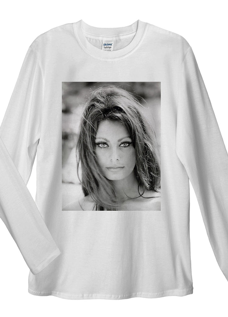 Sophia Loren Long Sleeve T-Shirt - Idea Is Good