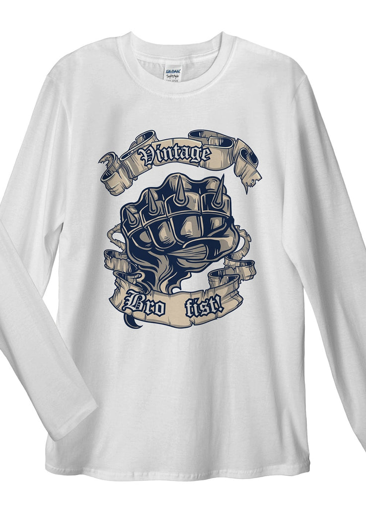 Vintage Fist Long Sleeve T-Shirt - Idea Is Good