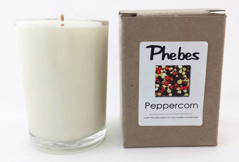 8.5 Oz Vegan Peppercorn Scented Candle in Glass Container