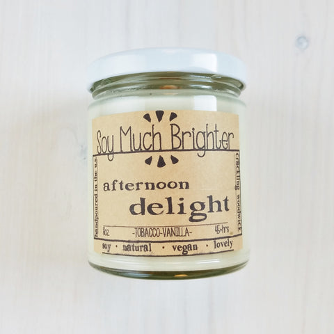 Afternoon Delight Vegan Scented Candle (8 OZ)