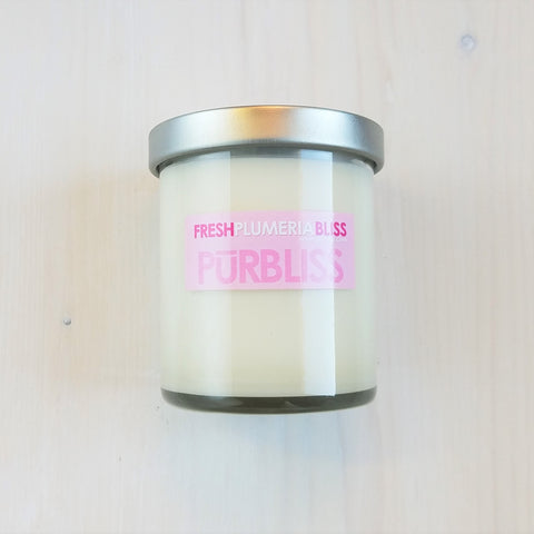 8 Oz Fresh Plumeria Bliss Vegan Soy Jar Candle