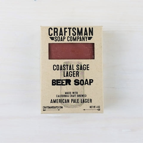 Coastal Sage Lager Beer Bar Soap