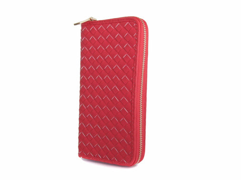 Women's Italian Woven Vegan Leather Wallet - Multiple Colors